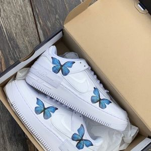 Air shadow x blue butterflies